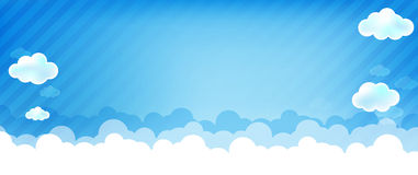 Cloud and blue background 004 Royalty Free Stock Image