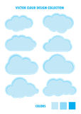 Cloud Blue Collection Royalty Free Stock Photo