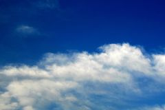 Cloud in blue sky. Clouds in blue sky early in the morning Stock Photography