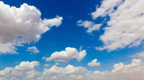 Cloud in Blue Sky Stock Image