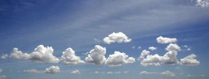 Cloud and blue sky. White cloud and blue sky Royalty Free Stock Photography