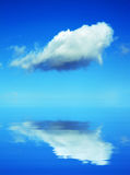 The cloud on blue sky above the ocean Royalty Free Stock Photography