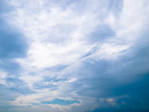 Cloud. In the blue sky abstract background Stock Image