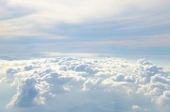 The cloud on the bluevsky stock photo