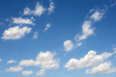 Cloud in blue sky background. Stock Photos