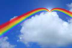 Cloud blue sky background cloudy texture rainbow. Royalty Free Stock Photography