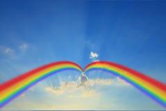 Cloud blue sky background cloudy texture rainbow. Stock Photography