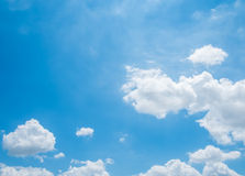 Cloud on Blue Sky Background. And have space for insert text Stock Photo