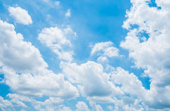 Cloud on Blue Sky Background. And have space for insert text Stock Image