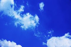 Cloud in Blue Sky Background Royalty Free Stock Images