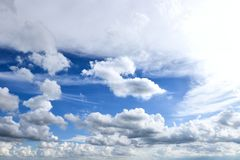 Cloud and blue sky royalty free stock photography