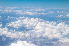 Cloud blue sky bird eye view Stock Images