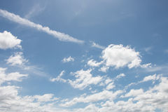 Cloud with blue sky. Could with blue sky in day light stock photo