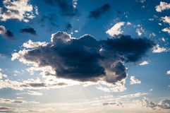 Cloud on the blue sky Stock Photography
