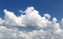 Cloud on blue sky in the daytime of Bright weather. Stock Images