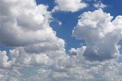 Cloud on blue sky in the daytime of Bright weather. Royalty Free Stock Photography