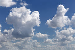 Cloud on blue sky in the daytime of Bright weather. Royalty Free Stock Photos