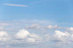 Cloud on blue sky in the daytime of Bright weather. Stock Image