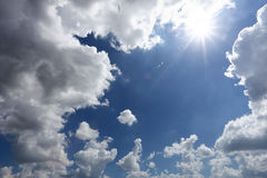 Cloud on blue sky in the daytime of Bright weather. Royalty Free Stock Images