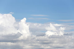 Cloud on blue sky in the daytime of Bright weather. Stock Photos