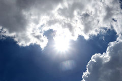 Cloud on blue sky in the daytime of Bright weather. Stock Photography