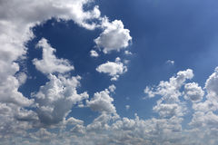Cloud on blue sky in the daytime of Bright weather. Stock Photo