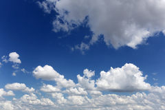 Cloud on blue sky in the daytime of Bright weather. Royalty Free Stock Photo