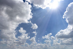 Cloud on blue sky in the daytime of Bright weather. Royalty Free Stock Image