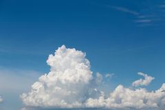 Cloud on blue sky in the daytime. Royalty Free Stock Image