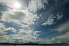 Cloud and blue sky at the island Royalty Free Stock Image
