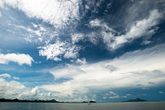 Cloud and blue sky at the island Royalty Free Stock Photography