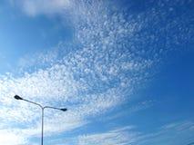 Cloud. Blue Sky light cloud orange Stock Photos