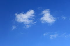 Cloud in blue sky. Nobody nature background Stock Photo