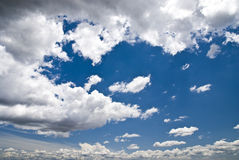 Cloud. Blue and sky in a sunny day Royalty Free Stock Image
