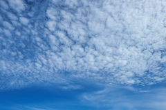 Cloud in blue sky. In the sunny day Royalty Free Stock Photography
