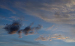 Cloud with blue sky. Cloud and blue sky before sunset Royalty Free Stock Images