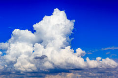 Cloud in blue sky before sunset Stock Photos