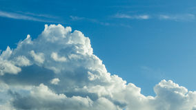 Cloud in the blue sky. White cloud in the blue sky Royalty Free Stock Photo