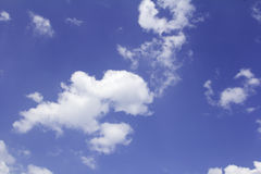 Cloud in blue sky. Stock Photography
