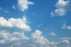 Cloud and blue sky. Stock Images