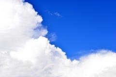 Cloud blue sky. White cloud in blue sky, spiritual background Stock Photo