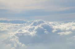 The cloud on the bluevsky stock photography