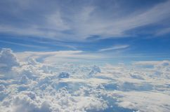 The cloud on the bluevsky royalty free stock image
