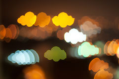 Cloud bokeh shape Royalty Free Stock Image