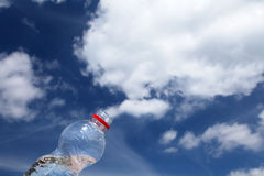 Cloud bottle royalty free stock photos
