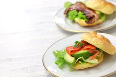 Cloud bread ( no carb bread ) sandwich Stock Image