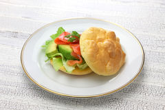 Cloud bread ( no carb bread ) sandwich Royalty Free Stock Photo
