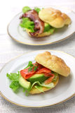 Cloud bread ( no carb bread ) sandwich Royalty Free Stock Image