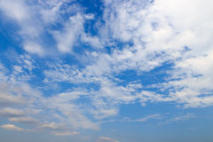 Cloud in bright  day on blue sky Royalty Free Stock Photography