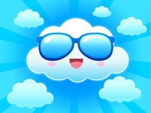 Cloud on bright sky Stock Photos